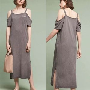 Anthro Cloth&Stone Juliette cold shoulder dress